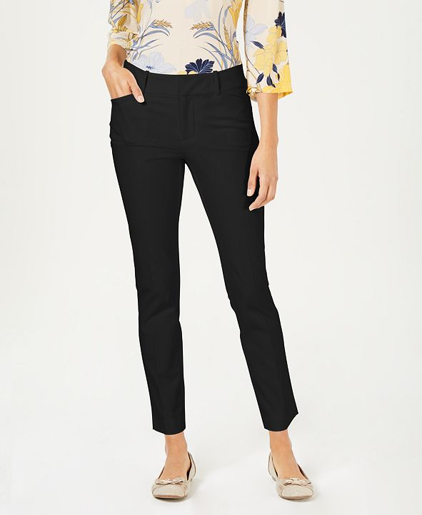 Charter Club Newport Tummy-Control Slim-Fit Pants, Created for Macy's
