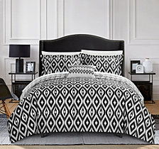 Chic Home Normani 4 Pc King Duvet Cover Set