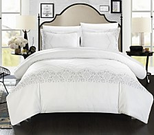 Chic Home Sophia 3-Pc. Duvet Cover Sets