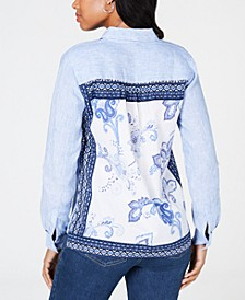 Printed-Back Shirt, Created for Macy's
