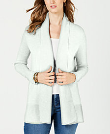 Charter Club Shawl-Collar Open Cardigan, Created for Macy's