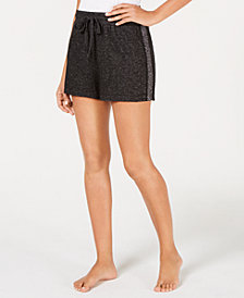 I.N.C. Metallic-Trim Sleep Shorts, Created for Macy's