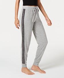 I.N.C. Soft Knit Metallic-Trim Jogger Pajama Pants, Created for Macy's
