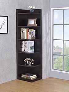 Louie Transitional Corner Bookcase