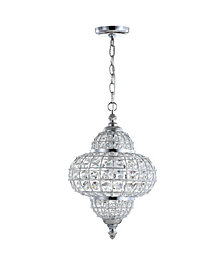 "Juliette 12"" Crystal,Metal LED Chandelier Pendant"