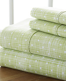The Timeless Classics by Home Collection Premium Ultra Soft Pattern 4 Piece Bed Sheet Set - King