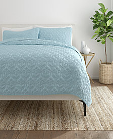 Home Collection Premium Ultra Soft Damask Pattern Quilted Coverlet Set, King