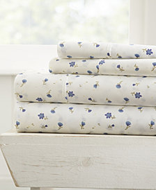 Home Collection Premium Ultra Soft Floral Pattern 4 Piece Bed Sheet Set