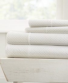 Home Collection Premium Ultra Soft 4 Piece Stippled Pattern Bed Sheet Set