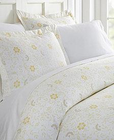 Home Collection Premium Ultra Soft 3 Piece Spring Vines Print Duvet Cover Set