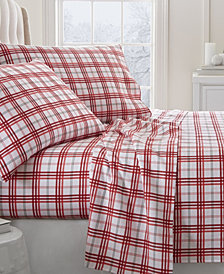 Home Collection Premium Christmas Plaid 4 Piece Flannel Bed Sheet Set