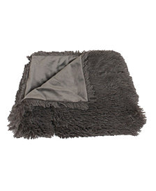 Chubby Faux Fur Decorative Throw With Micromink Back