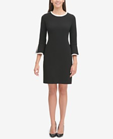 Tommy Hilfiger Colorblocked Crepe Sheath Dress