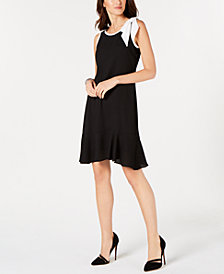 Robbie Bee Petite Bow-Trim Sheath Dress