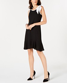 0cf3e964590 Robbie Bee Petite Satin Trapeze Dress   Reviews - Dresses - Petites ...