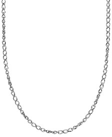 Carolyn Pollack Sterling Silver Wheat Chain Necklace