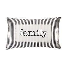 """Thro Polyester Fill Blair Family Ticking Stripe Pillow, 16"""" x 26"""""""