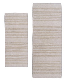 Multi Chain 2 Pc Cotton Bath Rug Set
