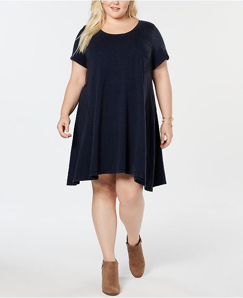 Style & Co Washed-Cotton T-Shirt Dress, Created for Macy's