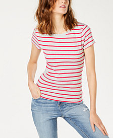 I.N.C. Striped Crewneck T-Shirt, Created for Macy's