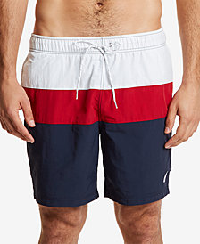 Nautica Men's Colorblocked Drawstring Swim Shorts