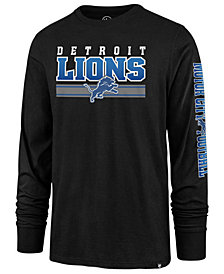 '47 Brand Men's Detroit Lions Level Up Long Sleeve Super Rival T-Shirt