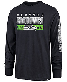 '47 Brand Men's Seattle Seahawks Level Up Long Sleeve Super Rival T-Shirt