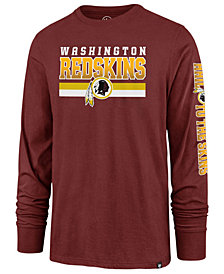 '47 Brand Men's Washington Redskins Level Up Long Sleeve Super Rival T-Shirt