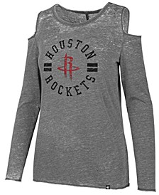 Women's Houston Rockets Cold Shoulder Long Sleeve T-Shirt