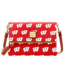 Dooney & Bourke Wisconsin Badgers Foldover Crossbody Purse
