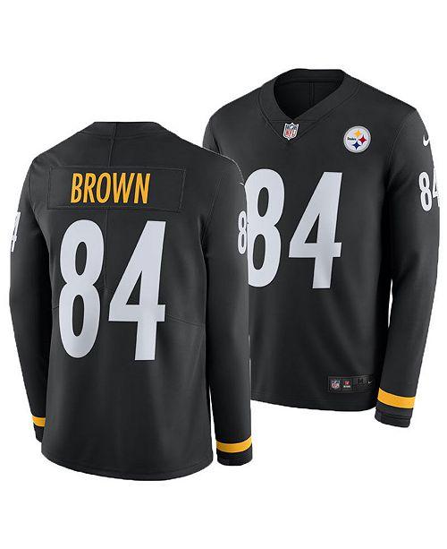 caef08215b8 Nike Men s Antonio Brown Pittsburgh Steelers Therma Jersey   Reviews ...