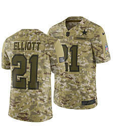 Nike Men's Ezekiel Elliott Dallas Cowboys Salute To Service Jersey 2018
