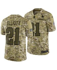 Nike Men's Ezekiel Elliott Dallas Cowboys Salute To Service Jersey 2018