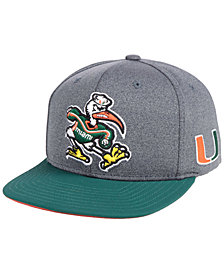 adidas Miami Hurricanes Stadium Performance Snapback Cap