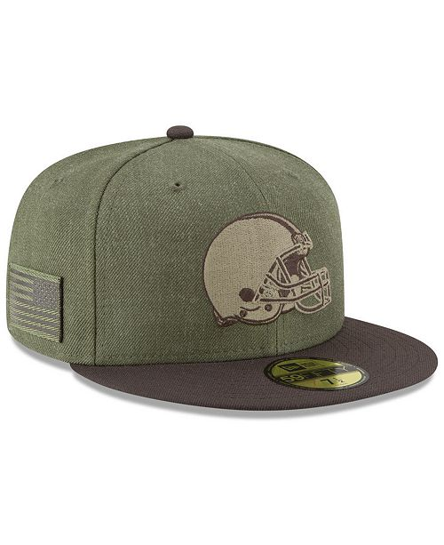 4b2de4e02c5 New Era Cleveland Browns Salute To Service 59FIFTY FITTED Cap ...
