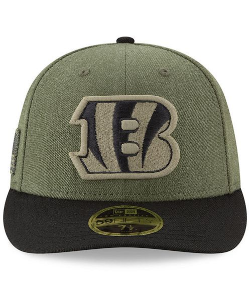 ... Cincinnati Bengals Salute To Service Low Profile 59FIFTY Fitted Cap  2018 ... 38beb0a50