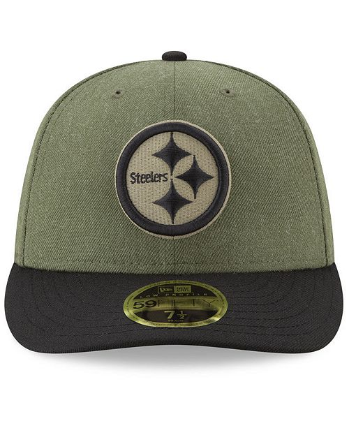 ... New Era Pittsburgh Steelers Salute To Service Low Profile 59FIFTY  Fitted Cap 2018 ... 1f0c47e5a10