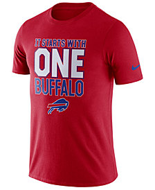 Nike Men's Buffalo Bills Dri-Fit Cotton Local T-Shirt