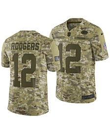 Men's Aaron Rodgers Green Bay Packers Salute To Service Jersey 2018