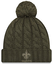 New Era Women's New Orleans Saints Salute To Service Pom Knit Hat