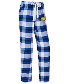 Concepts Sport Women's Golden State Warriors Headway Flannel Pajama Pants