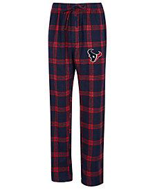 Concepts Sport Men's Houston Texans Homestretch Flannel Sleep Pants