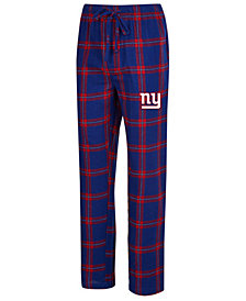 Concepts Sport Men's New York Giants Homestretch Flannel Sleep Pants