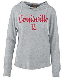 Pressbox Women's Louisville Cardinals Cuddle Knit Hooded Sweatshirt