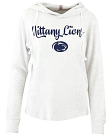 Pressbox Women's Penn State Nittany Lions Cuddle Knit Hooded Sweatshirt