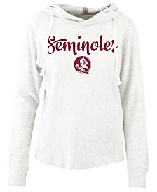 Pressbox Women's Florida State Seminoles Cuddle Knit Hooded Sweatshirt
