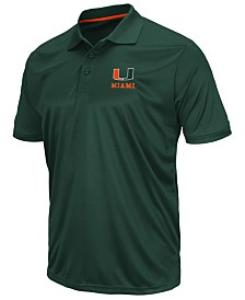 Colosseum Men's Miami Hurricanes Short Sleeve Polo
