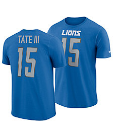 Nike Men's Golden Tate Detroit Lions Pride Name and Number Wordmark T-Shirt