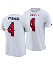 Men's DeShaun Watson Houston Texans Pride Name and Number Wordmark T-Shirt