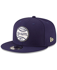 New Era Milwaukee Brewers Vintage Circle 9FIFTY Snapback Cap